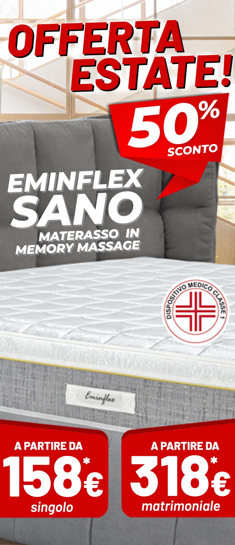 Eminflex Offerta Com Nuovo Materasso Sano Offerta Estate Con Sconto Del 50